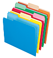 Office Depot® Brand 2-Tone File Folders, 1/3 Cut, Letter Size, Assorted Colors, Box Of 100