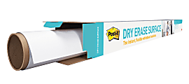"Post it® Non-Magnetic Dry-Erase Whiteboard Surface, 36"" x 48"", White"