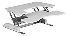"""VariDesk Pro Plus 36 White Manual Standing Desk Converter, 36""""W, White"""