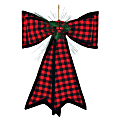 """Amscan Christmas Traditional Plaid Deluxe Bows, 21"""" x 18"""", Pack Of 2 Bows"""
