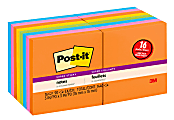 """Post-it® Super Sticky Notes, 3"""" x 3"""", Rio de Janeiro, Pack Of 16 Pads"""
