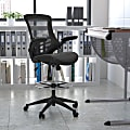 Flash Furniture Mesh Mid-Back Swivel Task Chair With Flip-Up Arms, Black