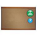 "Quartet® Select Prestige™ Color Cork Bulletin Board, 24"" x 36"", Aluminum Frame With Light Cherry Finish"