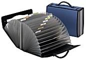 """Pendaflex Pocket Folder, 26 Pockets, 8-1/2"""" x 11"""", Navy"""
