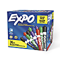EXPO® Low-Odor Dry-Erase Markers, Chisel Point, Assorted Colors, Pack Of 36