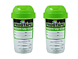 FrogTape Paint Storage Touch Up Cups, 12 Oz, Green, Pack Of 2 Cups