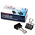 """OIC® Binder Clips, Small, 3/4"""", Black, Box Of 12"""