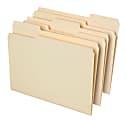 Office Depot® Brand File Folders, 1/3 Cut, Letter Size, 30% Recycled, Manila, Pack Of 100 Folders