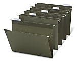 Office Depot® Brand Hanging Folders, 1/5 Cut, Letter Size, 100% Recycled, Green, Pack Of 25
