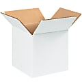 """Office Depot® Brand Corrugated Boxes, 7"""" x 7"""" x 7"""", White, Pack Of 25 Boxes"""