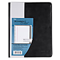 """Cambridge® 30% Recycled Refillable Business Notebook, 6 5/8"""" x 9 1/2"""", 1 Subject, College Ruled, 48 Sheets (96 Pages), Black"""