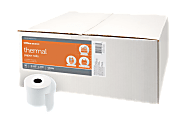 """Office Depot® Brand Thermal Paper Rolls, 3-1/8"""" x 273', White, Carton Of 50"""