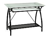 "Office Star™ Newport 40""W Computer Desk, Clear/Black"