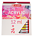 Talens Art Creation Acrylic Paint, 12 mL, Assorted Colors, Set Of 24 Tubes