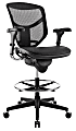 WorkPro® Quantum 9000 Series Ergonomic Mesh/Mesh Mid-Back Stool, Black/Black