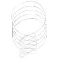 "JAM Paper® Large Elastic Gift Wrap String Ties, 22"", Matte White, Pack Of 5 Ties"