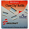 SKILCRAFT® Clam Clip Refills, Small, Silver, Box Of 50 (AbilityOne 7510-01-392-6512)