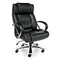 OFM Avenger Big And Tall Ergonomic Bonded Leather High-Back Chair, Black/Chrome