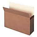 """Smead® Expanding File Pockets, 5 1/4"""" Expansion, Letter Size, 100% Recycled, Redrope, Box Of 10"""