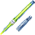 SKILCRAFT® 100% Recycled Barrel Highlighters, Chisel Point, Fluorescent Yellow, Pack Of 12