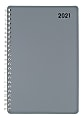 """Office Depot® Brand Weekly/Monthly Appointment Book, 5"""" x 8"""", Silver, January 2021 To December 2021, OD710330"""