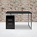 "Flash Furniture 47""W Harwood Desk, Dark Ash"