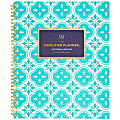 "AT-A-GLANCE® Emily Ley Simplified Academic Weekly/Monthly Planner, 8-1/2"" x 11"", Colorful Quatrefoil, July 2020 to June 2021, EL400-905A"