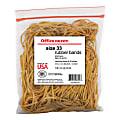 """Office Depot® Brand Rubber Bands, #33, 3 1/2"""" x 1/8"""", 1/4Lb. Bag"""