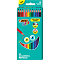 BIC® Kids Coloring Pencils, 3.3 mm, Assorted Colors, Pack Of 12 Pencils