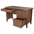 Inval Sherbrook Computer/Writing Desk With Locking File Drawer, Pignetto