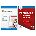 Microsoft 365 Personal - McAfee Internet Security 3 Device