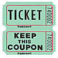 """Amscan Double Ticket Roll, 6-1/2""""H x 6-1/2""""W x 2""""D, Green, 2,000 Tickets Per Roll"""