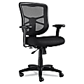 Alera® Elusion™ Series Mesh Mid-Back Swivel/Tilt Chair, Black