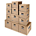"Bankers Storage Box® SmoothMove™ Classic Moving & Storage Boxes With Lift-Off Lids, 14"" x 18"" x 15"", 85% Recycled, Kraft, Case Of 12"
