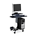 Eastwinds FPD Computer Table, Anthracite/Metallic Gray
