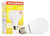 Sylvania A19 1500 Lumens LED Bulbs, 14 Watt, 3000 Kelvin, Pack Of 6 Bulbs