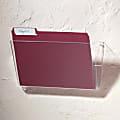Brenton Studio® Single Wall Pocket, Letter Size, Clear
