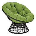 Office Star™ Papasan Chair, Green/Black