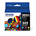 Epson® 202XL Claria® High-Yield Black And Cyan/Magenta/Yellow Ink Cartridges, Pack Of 4, T202XL-BCS