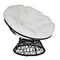 Office Star™ Papasan Chair, White/Black