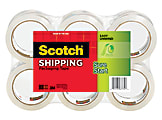 """Scotch® Sure Start Shipping Tape, 1 7/8"""" x 43.7 Yd., Pack Of 6"""