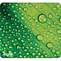 "Allsop NatureSmart Image Mousepad - Leaf Raindrop - (31624) - Leaf Raindrop - 0.10"" x 8.50"" Dimension - Natural Rubber, Latex - Skid Proof"