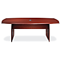 Realspace® Broadstreet Conference Table, Boat-Shaped, Cherry