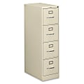 """HON® 510 25""""D Vertical 4-Drawer File Cabinet, Metal, Putty"""