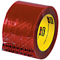 """3M™ 3779 Pre-Printed Carton Sealing Tape, 3"""" Core, 3"""" x 110 Yd., Clear/Red, Case Of 6"""