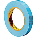 """Scotch® 8896 Strapping Tape, 3"""" Core, 0.75"""" x 60 Yd., Blue, Case Of 12"""