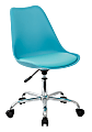 Ave Six Emerson Mid-Back Chair, Teal/Silver