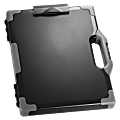 """Officemate® OIC® Carry-All Clipboard Box, 15 1/2""""H x12 1/2""""W x 2 1/4""""D, Gray/Black"""