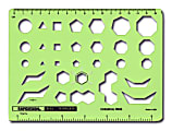 Rapidesign Technical And Scientific Drafting Templates, R-83, Chemical Ring