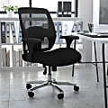 Flash Furniture HERCULES Series 24-7 Intensive Use Big & Tall Ergonomic Mesh Office Chair With Ratchet Back, Black/Gray